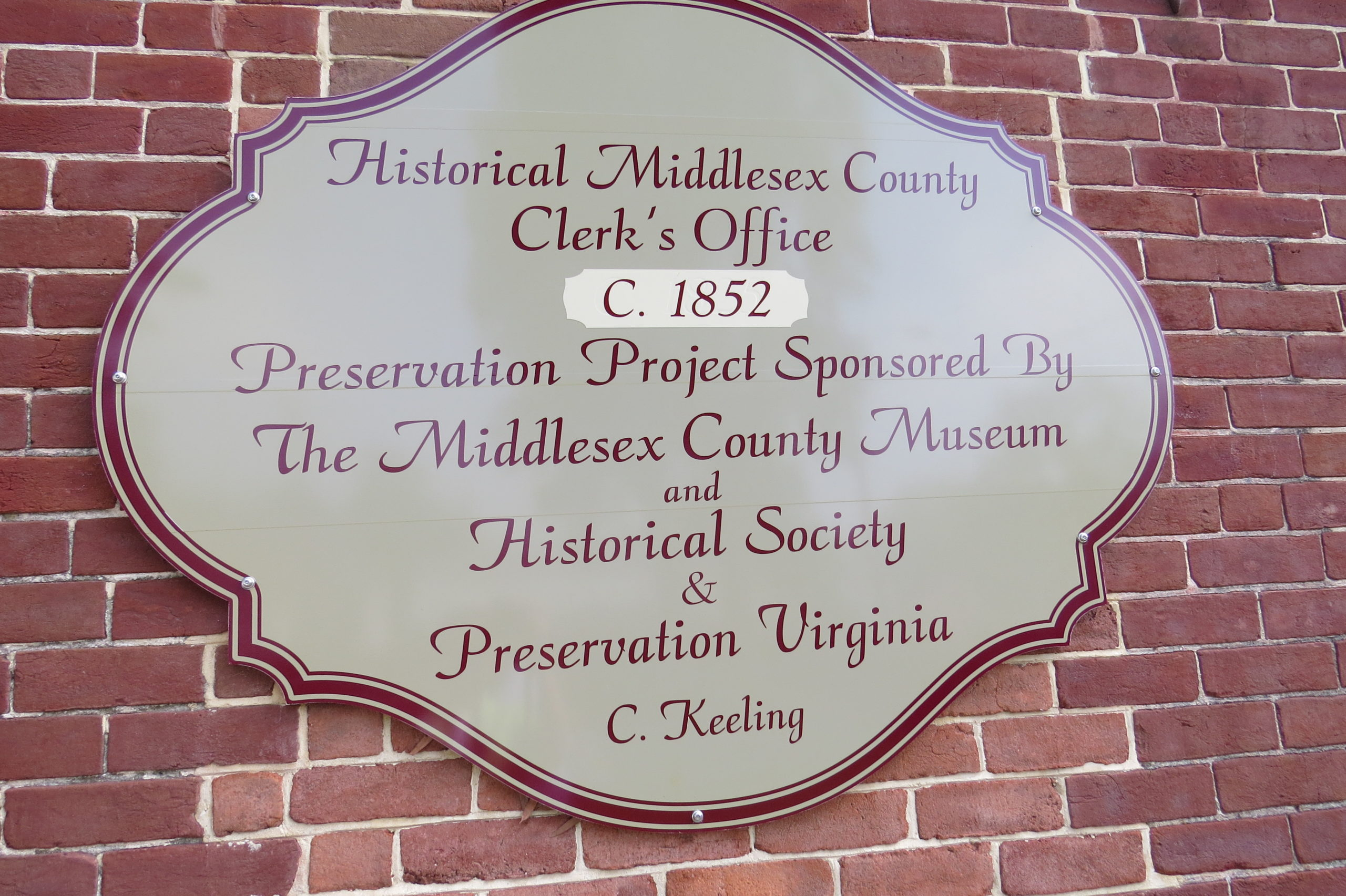 TVHS VISITS MIDDLESEX COUNTY   Tidewater Virginia Historical