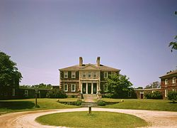 Mt. Airy was built in 1758 is a mid-Georgian plantation house.  The first built in the manner of a neo-Palladian villa.  It was constructed for Colonel John Tayloe II perhaps the richest planter of his generation