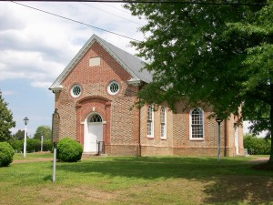 St. John's was built to replace the earlier Lunenburg Parish lower church erected in 1732 and abandoned after the Revolution.